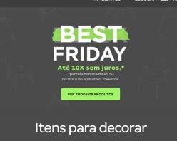 Black Friday - Até 10X sem juros + 7% OFF em todo o site!