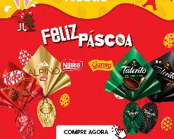 10% OFF em toda a linha páscoa Nestlé e Garoto!