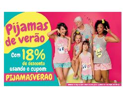 Pijamas de Verão. Desconto de 18% OFF com uso do cupom!